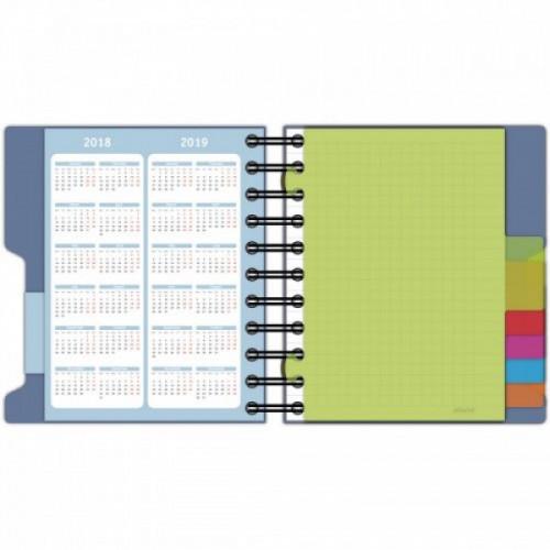 Блокнот A6,200л,клетка,греб. Attache Selection Office book синий металлик