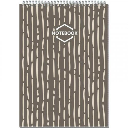 Блокнот A4, 80 листов, Полином, клетка, картон, 60 г/м2, спираль, 203x290мм
