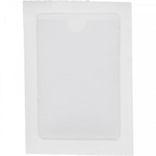 Папка карман самоклеящийся Аttache для визитных карточек, 65*98 мм, 10 шт.