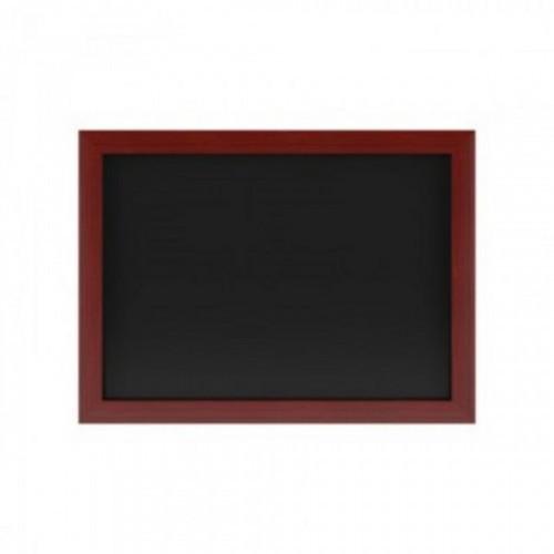 Доска меловая магнитная черная 500х700, дерев.коричн.рама