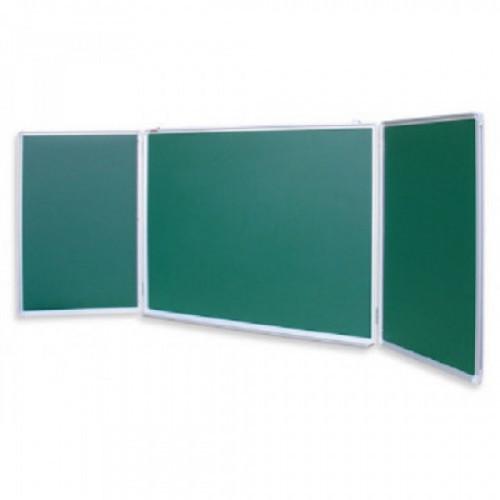 Доска меловая - магнитная зеленая 100х300 2-створ. Россия