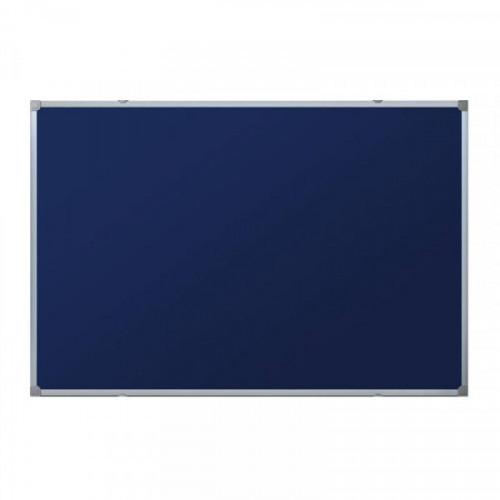 Доска для информации текстильная 90х120 синяя Attache