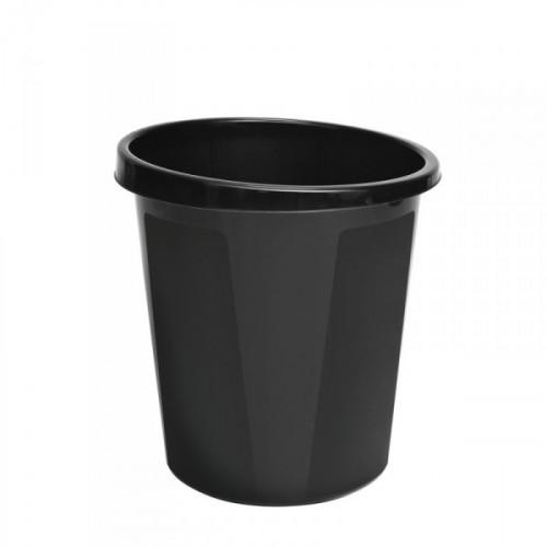 Корзина для мусора СТАММ 9 литров пластиковая черная