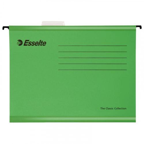 Папка подвесная Esselte Standart А4 до 250 листов зеленая (25 штук в упаковке)