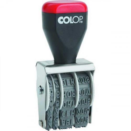 Датер ручной Colop 04000 месяц обозначается буквами 4 мм