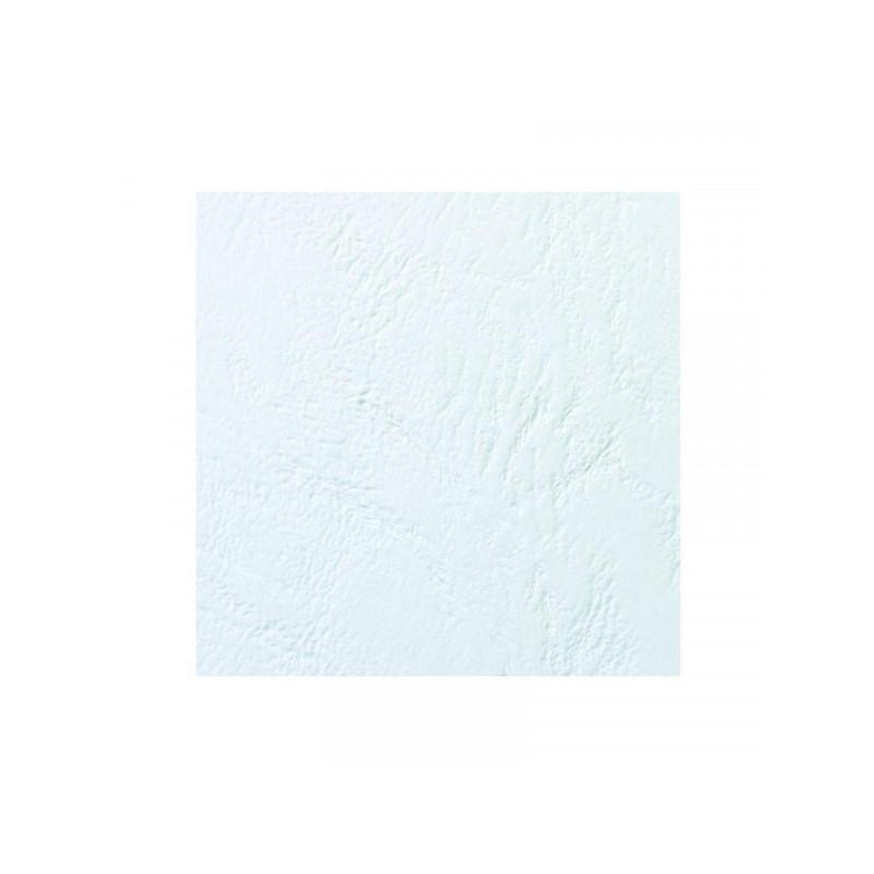 Обложки для переплета картонные 100 штук в упаковке белые кожа 250 г/м2 А4