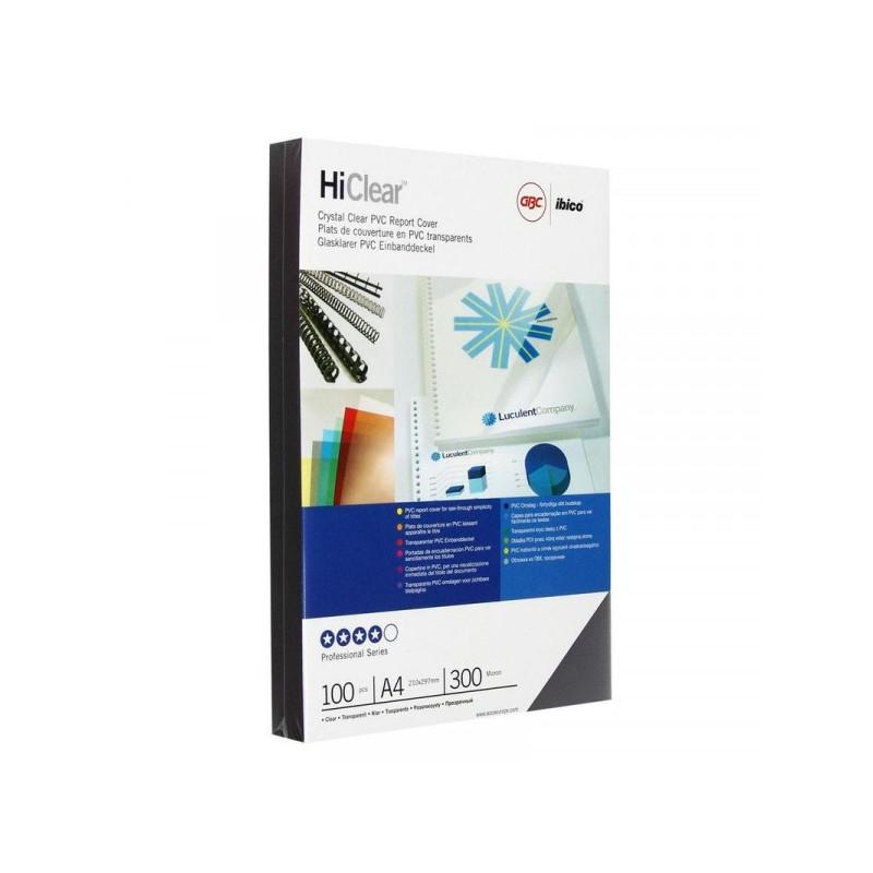Обложки для переплета пластиковые прозрачные 100 штук/упаковка А4 300 мкм