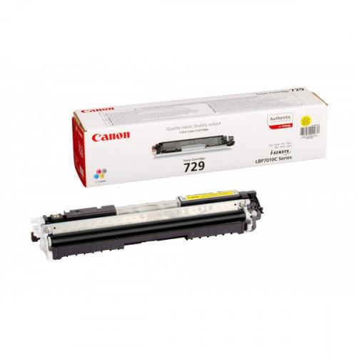 Тонер-картридж лазерный Canon Cartridge 729 4367B002 желтый оригинальный