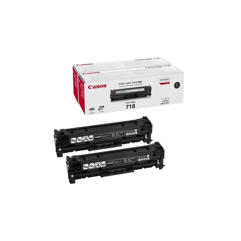 Картридж лазерный Canon Cartridge 718 Bk VP 2662B005 черный оригинальный 2 штуки