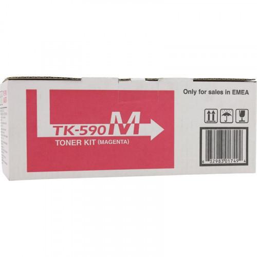 Тонер-картридж лазерный Kyocera TK-590M пурпурный оригинальный