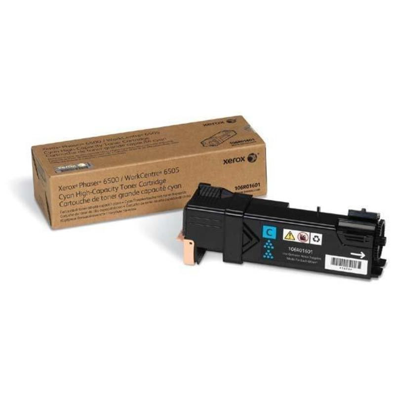 Картридж лазерный Xerox 106R01601 голубой оригинальный