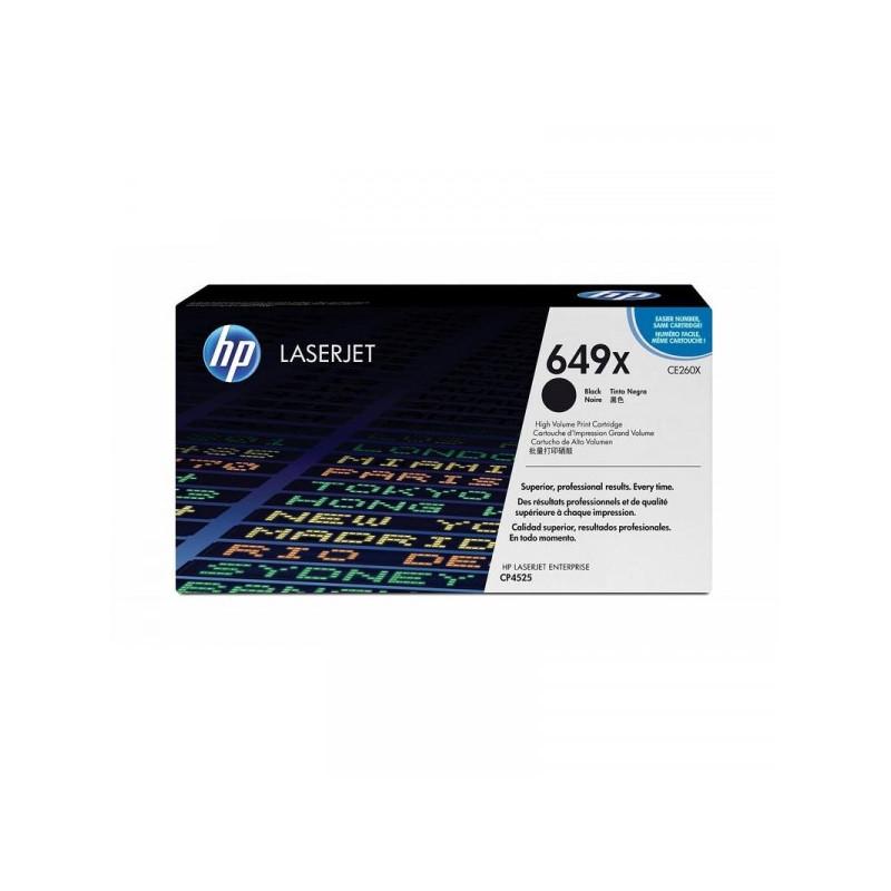 Картридж лазерный HP 649X CE260X черный оригинальный