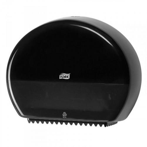 Держатель для туалетной бумаги в мини-рулонах Tork Elevation Т2 555008 пластиковый черный