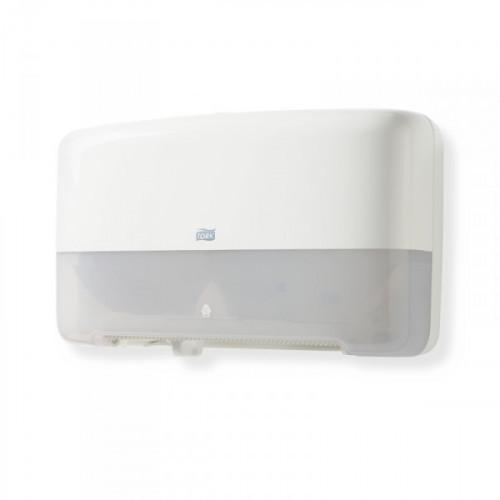 Держатель для туалетной бумаги в мини-рулонах Tork Elevation Т2 555500 пластиковый белый