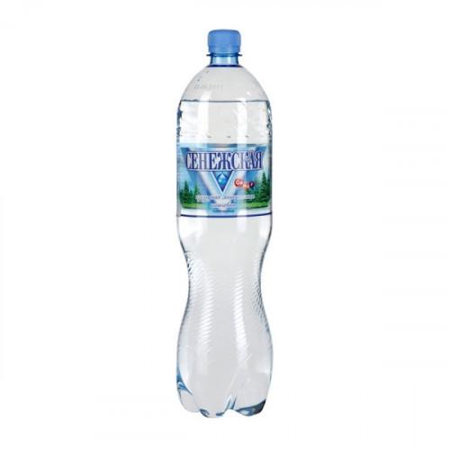 Вода минеральная Сенежская газированная 1.5 литра 6 штук в упаковке