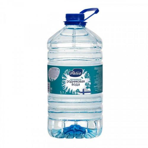 Вода питьевая родниковая Valio негаз ПЭТ 5,1 литра