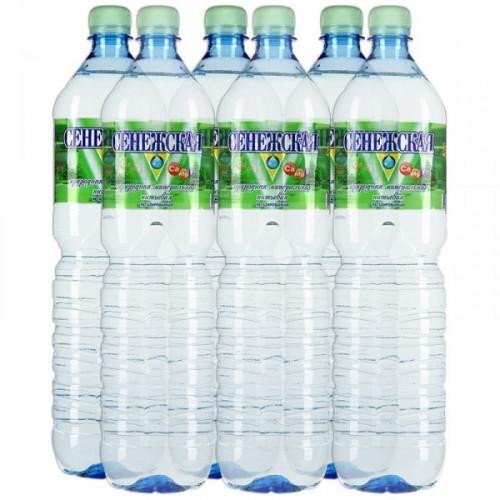 Вода минеральная Сенежская негазированная 1.5 литра 6 штук в упаковке