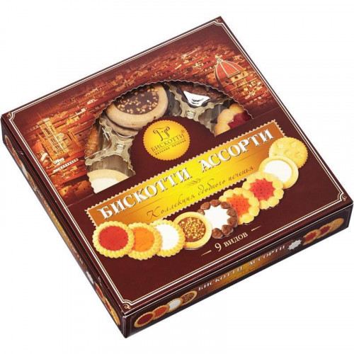 Печенье Бискотти ассорти 345 грамм