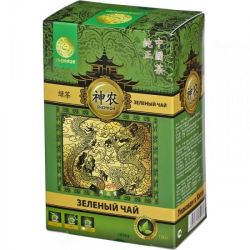 Чай Shennun зеленый листовой 100 грамм