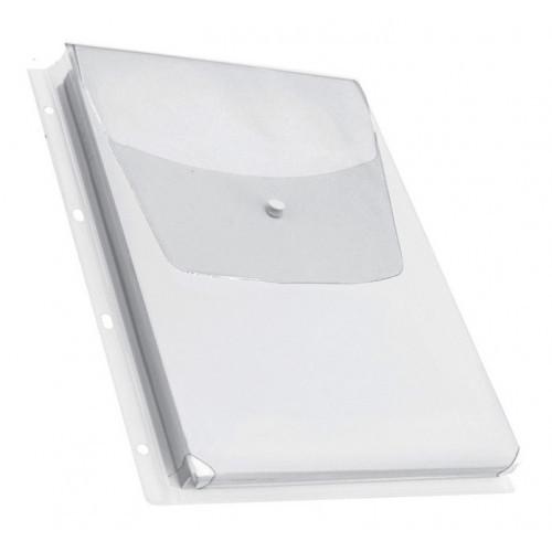 Папка-карман 2308 прозрачный А4 вертикальный 180мкм
