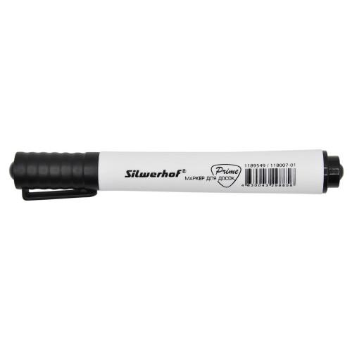 Маркер для досок Silwerhof Prime 118007-01 1-3мм черный коробка
