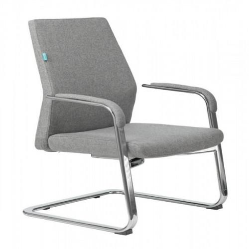 Кресло Бюрократ _JONS-LOW-V/CASHGREY на полозьях серый