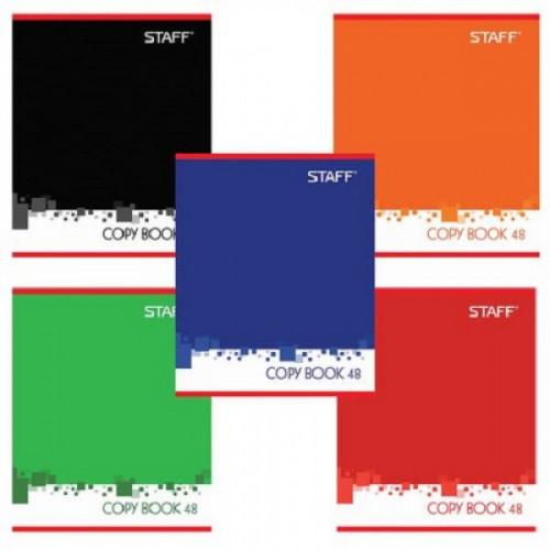 Тетрадь А5, 48 л., STAFF, клетка, офсет №2, обложка картон, ОФИС, 402783
