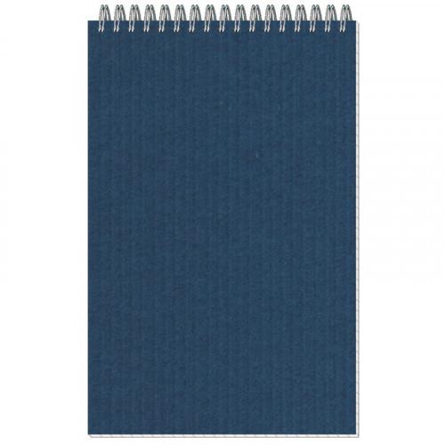 Блокнот МИКРОВЕЛЬВЕТ- А5 50л. спираль, синий, клетка 40шт
