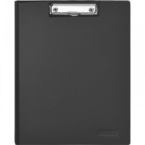 Папка-планшет с крышкой Attache пластиковая черная 1.2 мм