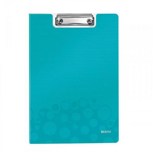 Папка-планшет с крышкой Leitz Wow пластиковая бирюзовая 2.8 мм
