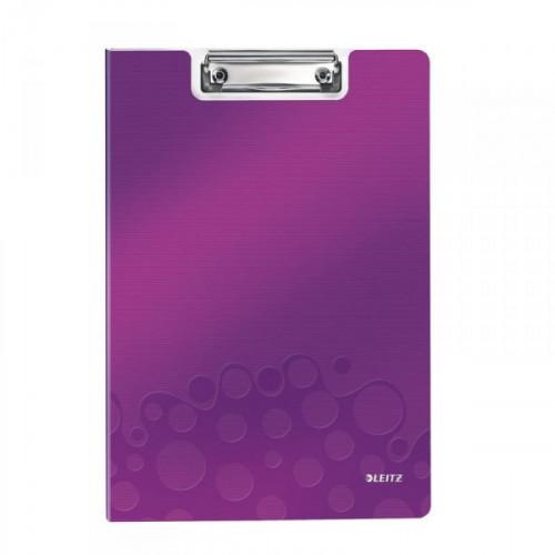 Папка-планшет с крышкой Leitz Wow пластиковая лиловая 2.8 мм