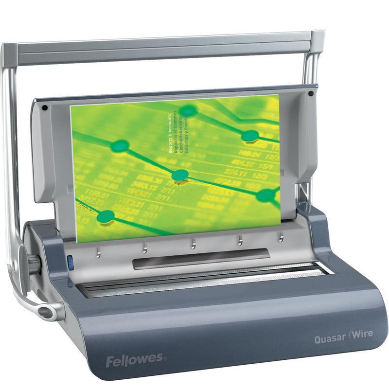 Брошюровщик Fellowes QUASAR-Wire до 297 мм до 15/130 листов металлические пружины