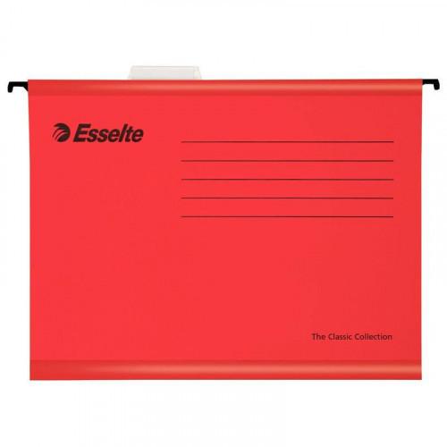 Папка подвесная Esselte Standart А4 до 250 листов красная (25 штук в упаковке)