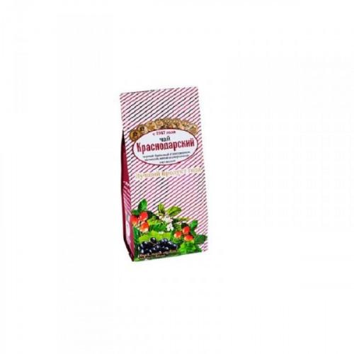 Чай Краснодарский черный с шиповником мелиссой мятой и черной смородиной 100 грамм