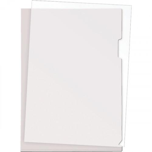 Папка-уголок пластик A4, 180 мкм, 1 отделение, гладкая фактура, прозрачная, Attomex