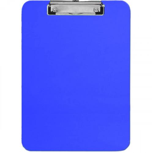 Папка-планшет, с крышкой, А4, верхний зажим, картон/ПВХ, 1.75мм, синяя, Attomex