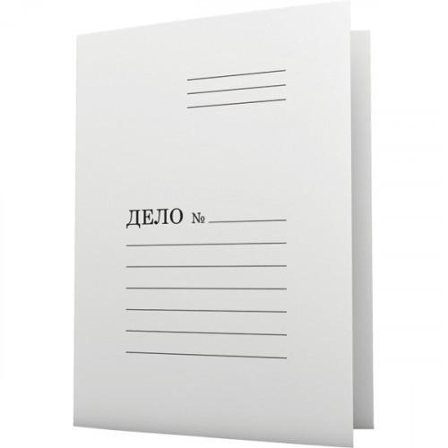 Папка-скоросшиватель Дело, А4, 290г/м2, картон немелованный, белая, Attomex
