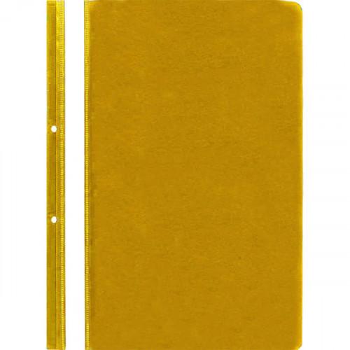 Папка-скоросшиватель с перфорацией, А4, 100/110 мкм, пластик, желтая с прозрачным верхним листом, Attomex