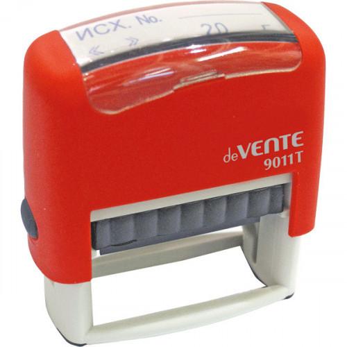 """Штамп автоматический стандартный """"deVENTE"""" 9011T, готовый к работе №07 """"Исх. №, дата"""" 38x14 мм, в блистере"""