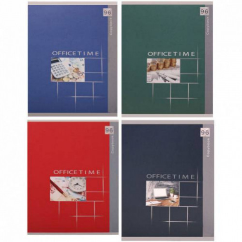 Тетрадь А5, 96 листов, клетка, мелованный картон, скрепки, 4 дизайна,  LANDSCAPES
