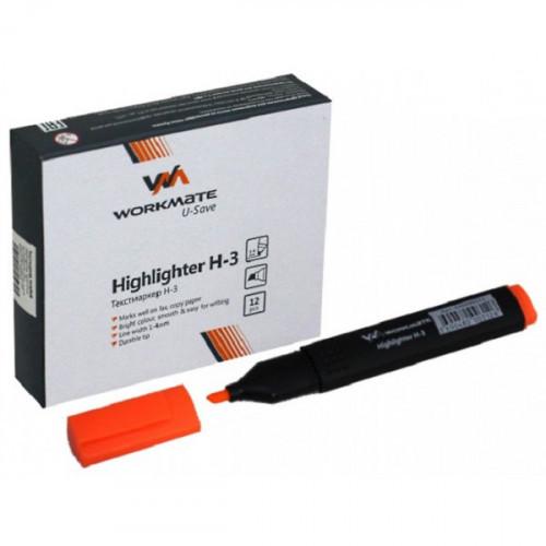 Маркер текстовый WORKMATE H-3, плоский, оранжевый