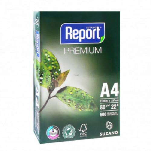 Бумага для техники REPORT PREMIUM А4, B класс, 80г/м2, 160% CIE, 500 листов