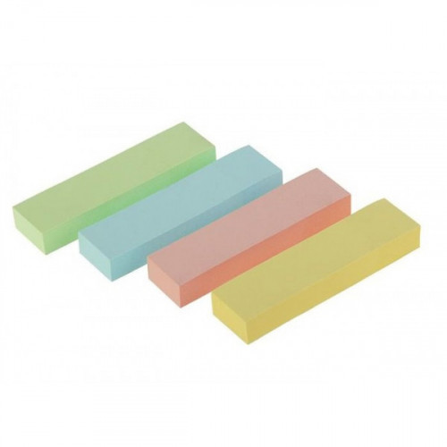 Клейкие закладки бумажные, 50х20, 160 закладок, 4 пастельных цвета
