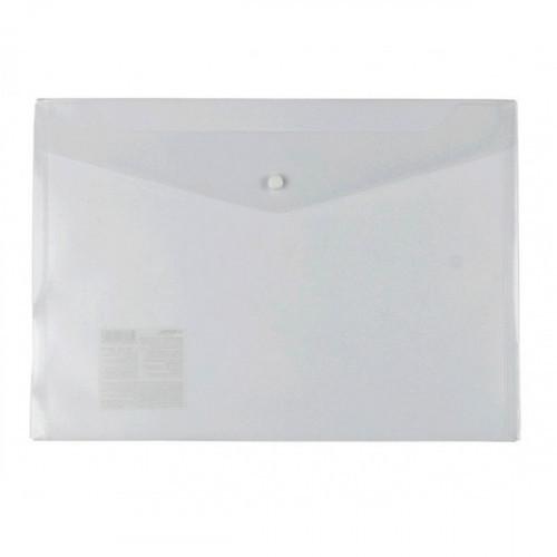 Папка-конверт на кнопке, А4, 180мкм, пластик, бесцветная, Диагональ, Expert Complete Classic