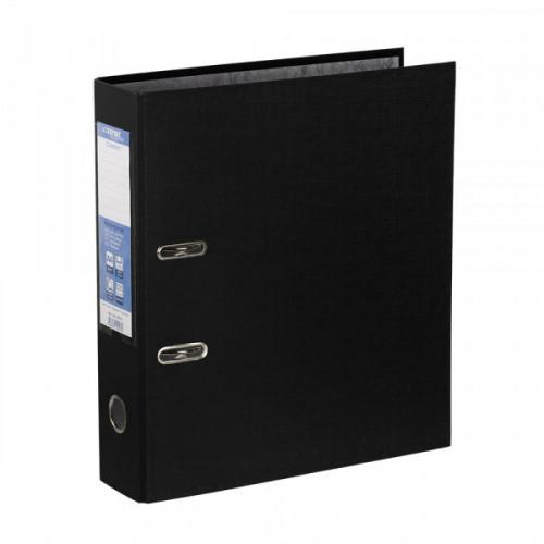Папка с арочным механизмом 75мм, пвх/бумага, черная, карман на корешке, Expert Complete