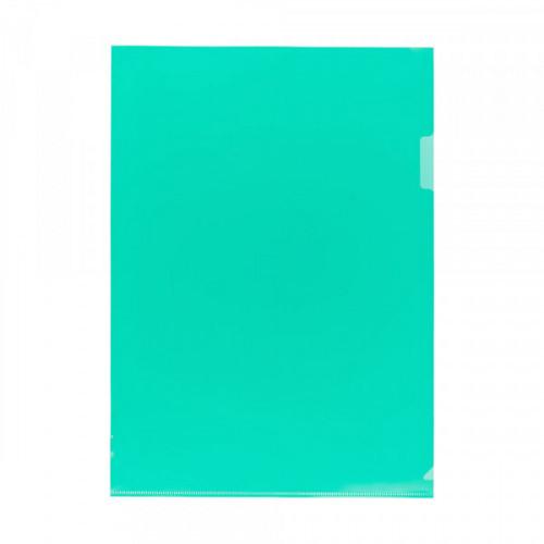 Папка-уголок пластик А4, 180мкм, 1 отделение, прозрачная зеленая, Песок, Expert Complete Classic