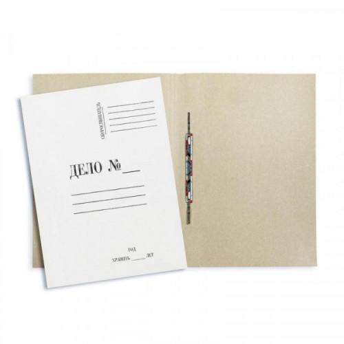 Папка-скоросшиватель Дело, А4, 260г/м2, картон немелованный, белая