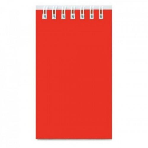 Блокнот А7,40л,клетка,гребень,обл.пластик Красный Б40-7809
