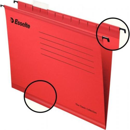 Подвесная папка Esselte Pendaflex Plus Foolscap, красная 25 штук в упаковке