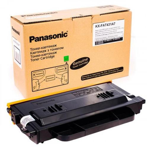 Тонер-картридж Panasonic KX-FAT431A7 черный оригинальный